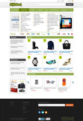 Shopping store like website by webcreater