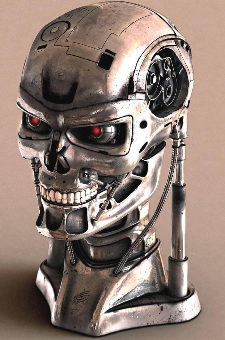 Cyborg Head 01 by mmarti
