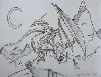 Dragon Drawn By My Friend by Simbaboy8