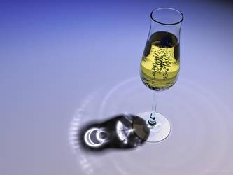 Champagne glass by arni