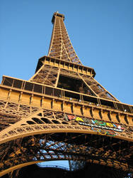 Orange Eiffel Tower by wonderbear