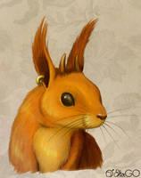 Squirrel-demon color by GALEKA-EKAGO