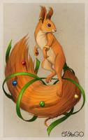 Squirrel-demon 2 color by GALEKA-EKAGO