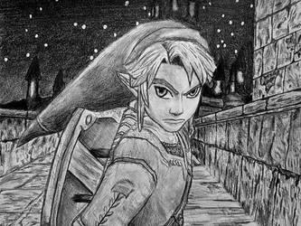 TLoZ: Twilight Princess - Link fanart by ThroughTheBlade