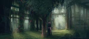 Duel in the garden by MiroJohannes