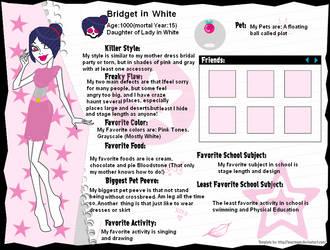 Monster High Profile Bridget In White by Cherry-Cherrise