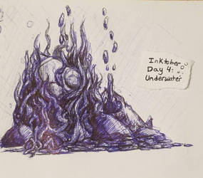Inktober Day 4- Underwater by LilKity828
