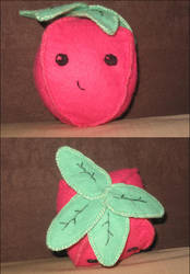 strawberry plushie by pera-shuus