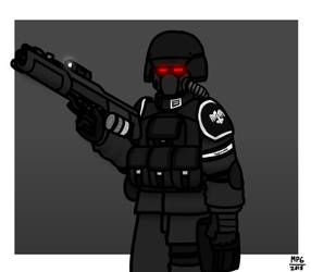 Hagian Soldier by MP6-Serza