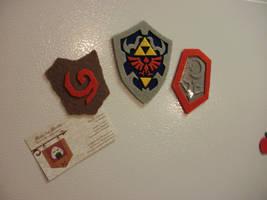 Video Game Magnet - Legend of Zelda Shields by merlinemrys