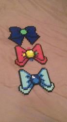 Sailor Moon bows by thestraldust