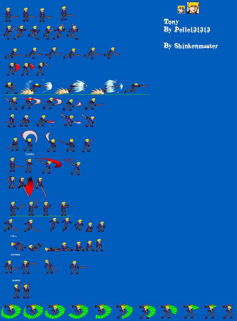 Tony Sprite Sheet (Complete) by shinkenmaster