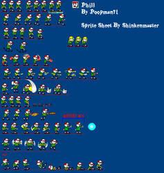 Phil Sprite sheet (Complete) by shinkenmaster