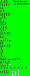 Ranma Sprite sheet  by shinkenmaster