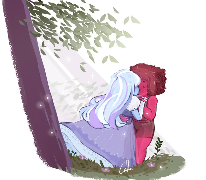 i did this one around 1 year ago i guess ????? was experimenting with brushes and so ;w; Steven Universe Artwork is mine