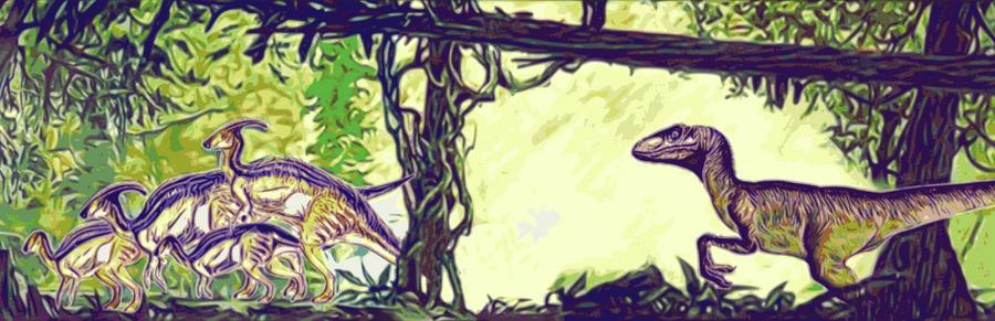 Jurassic Park Visitor Center mural by larijone