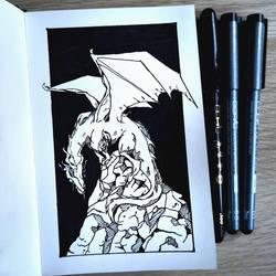 Old dragon (Inktober 2018) by Ranveld