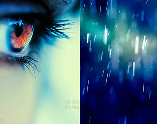blue rain by Deeevilish