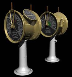Titanic's bridge telegraphs by parkseiii