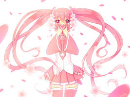 Endless Cherry Blossom Petals by bertalh