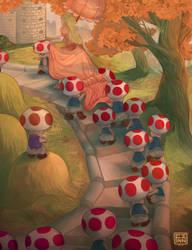 Royal Toadstool Escort by FinnPants