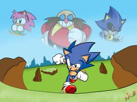 Sonic CD tribute by NkoGnZ