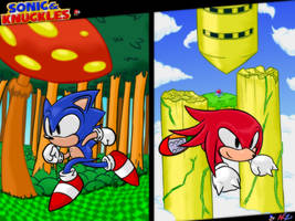 Sonic and Knuckles Tribute by NkoGnZ