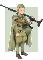 Soviet PTRD gunner by Maridjan-kirisame