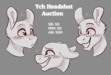 | YCH | Simple Headshots Auction 3 | CLOSED | by xCaramelCookiex