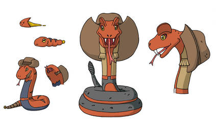 FMD- Rattlermon and Crotalimon by BusaFenrir