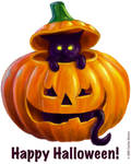 Halloween Kitty by cocowash