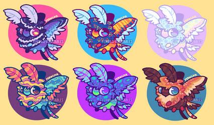 (OPEN) OTA Moth Friend Batch #1 by Ferwild-Adoptables