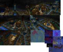 MineCraft Deep Water city by lunchbox1234