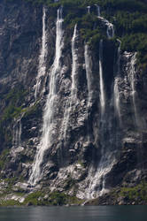 waterfall in Norway by Jyyx