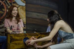 Tickling feet girls redhead (tickling challenge) by raposa2