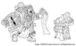 Hordes: Gargantuans - Trollkin Sorcerer by nfeyma
