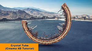 Crystal Tube (Cinema 4D Tutorial) by NIKOMEDIA