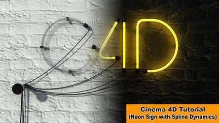 Create a Neon Sign (Cinema 4D Tutorial) by NIKOMEDIA