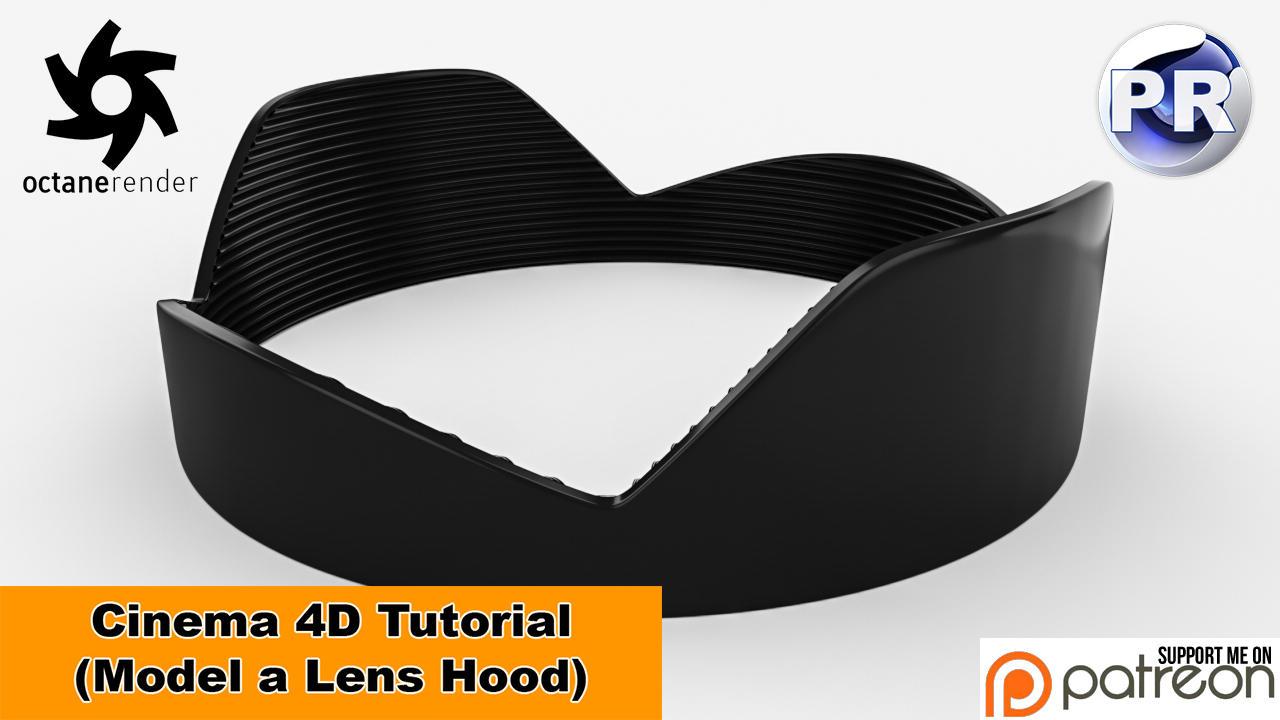 Model a Lens Hood (Cinema 4D Tutorial) by NIKOMEDIA