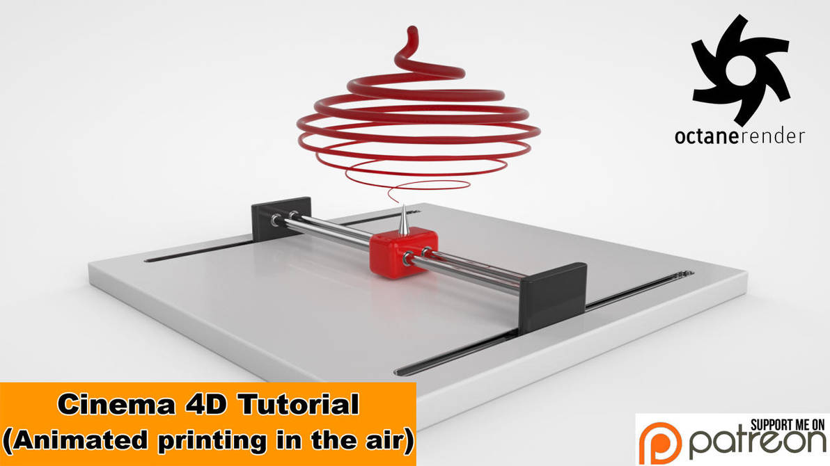 Animated printing in the air (Cinema 4D Tutorial) by NIKOMEDIA
