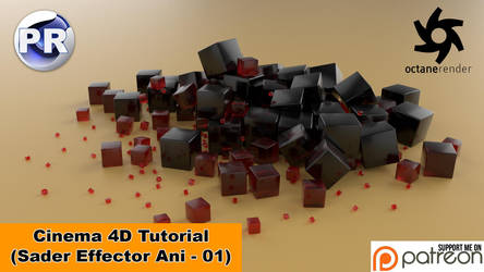 Shader Effector Animation 01 (Cinema 4D Tutorial) by NIKOMEDIA