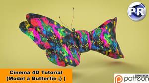 Model a Buttertie (Cinema 4D Tutorial) by NIKOMEDIA