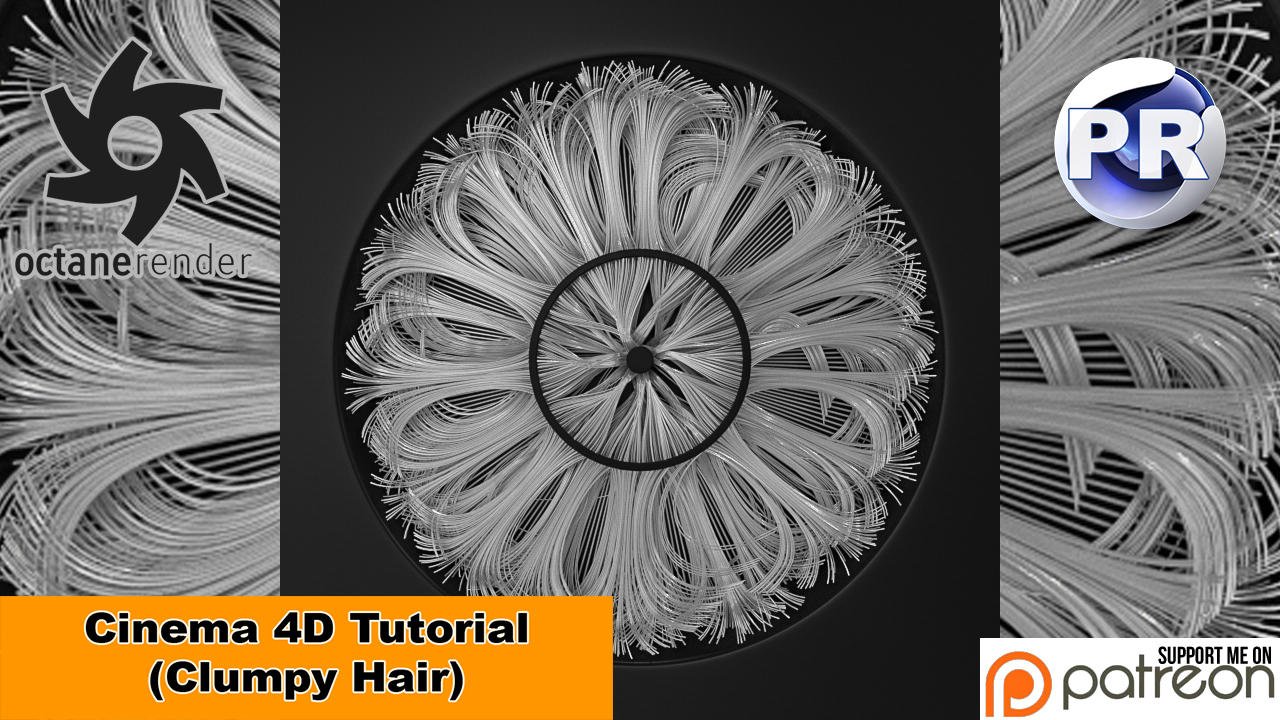 Clumpy Hair (Cinema 4D Tutorial) by NIKOMEDIA