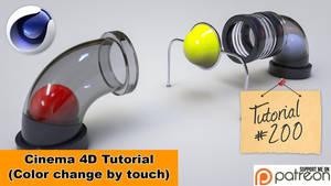Animated Color Change (Cinema 4D Tutorial) by NIKOMEDIA