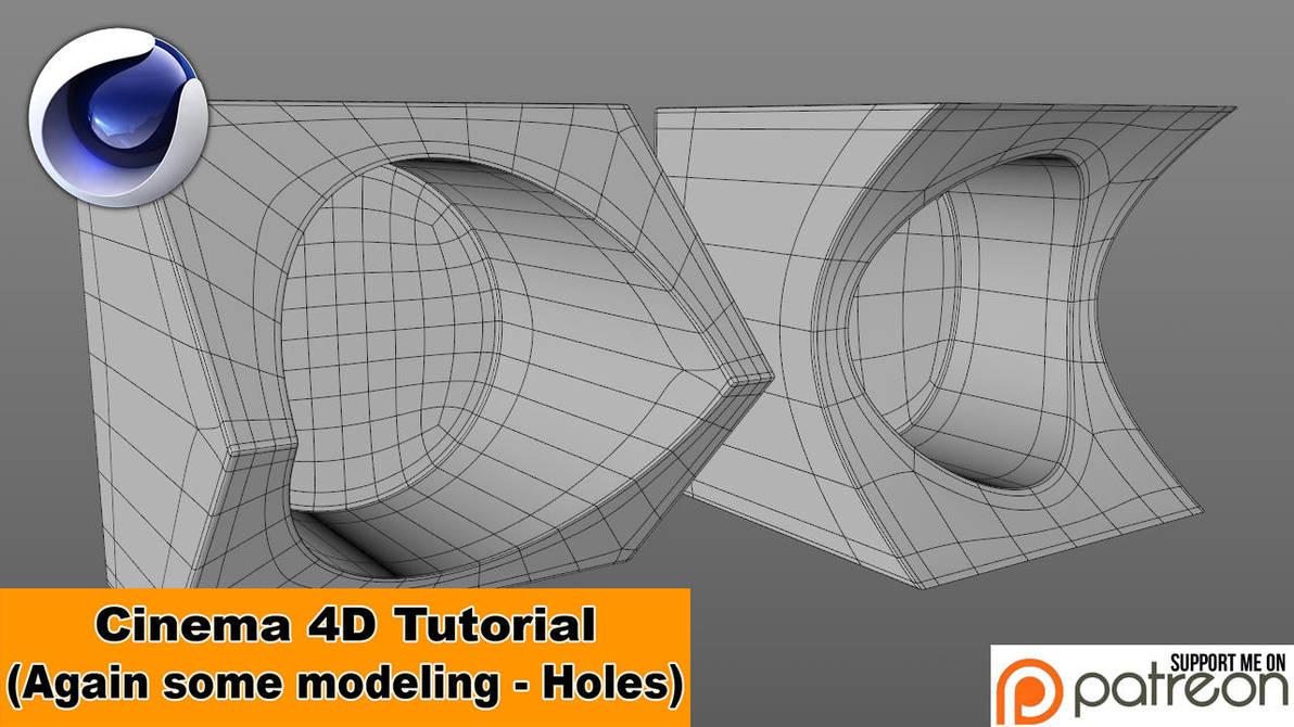 Again a little modeling - Holes (C4D Tutorial) by NIKOMEDIA