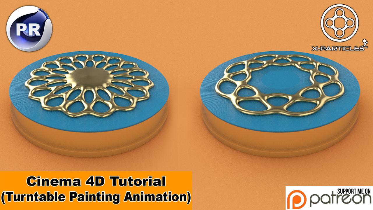 Turntable Painting (Cinema 4D Tutorial) by NIKOMEDIA