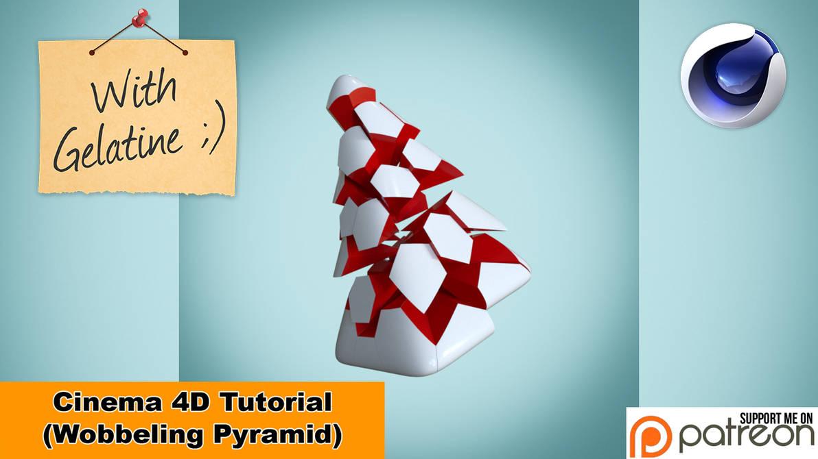 Wobbeling Pyramid (Cinema 4D Tutorial) by NIKOMEDIA
