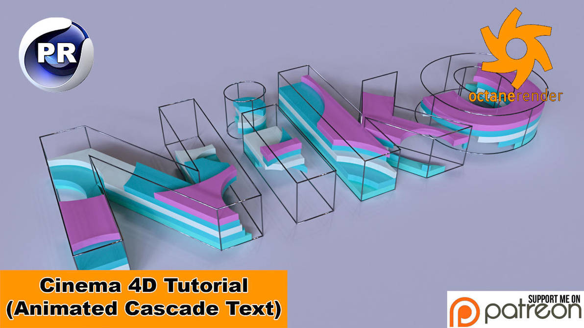 Animated Cascade Text (Cinema 4D Tutorial) by NIKOMEDIA