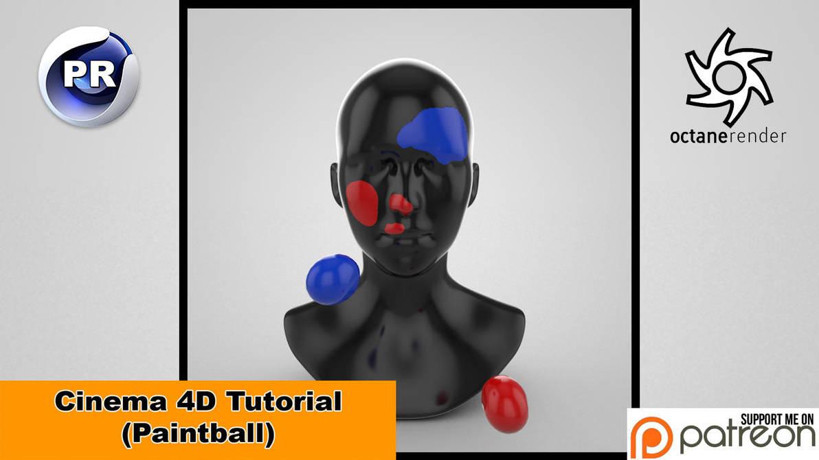 Paintball (Cinema 4D Tutorial) by NIKOMEDIA