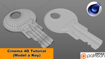 Model a Key (Cinema 4D Tutorial) by NIKOMEDIA
